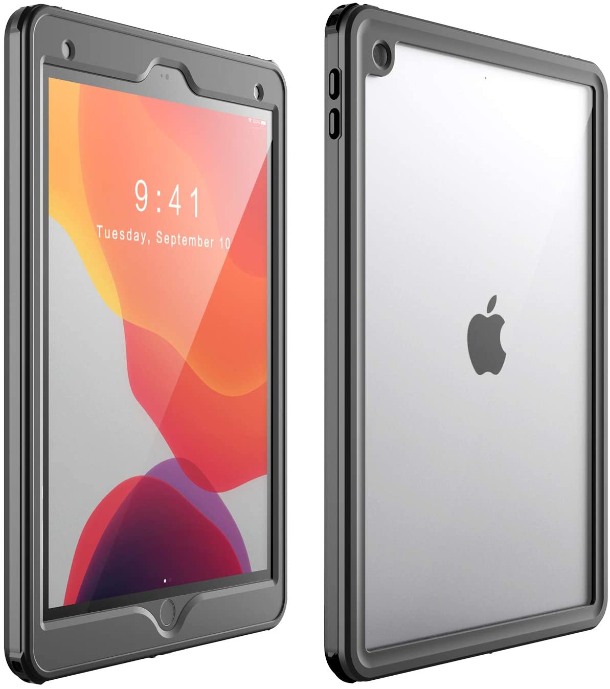 Waterproof Protective Case with Built-in Screen Protector Shock-Absorbing Bumper Dustproof Submersible Full-Body Case for iPad 10.2 inch