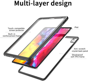 Waterproof Case,with Built-in Screen Protector Dustproof Submersible Full-Body Cover for 2020 iPad Pro 12.9