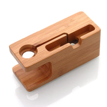 Load image into Gallery viewer, NEO Bamboo Charging Docking Station Charger Stand Holder For iWatch and iPhone