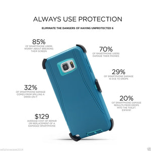 Armor Commute Series Hard Case with Belt Clip Holster for Samsung Galaxy S7 and S7 Edge