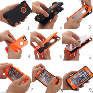 iPhone 6/6s Heavy Duty  Shockproof Dirtproof Durable Case Cover With Belt Chip