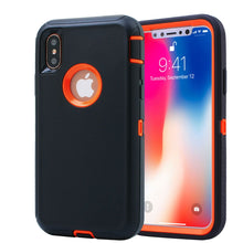 Load image into Gallery viewer, Heavy Duty Tough 3 in 1 Hard PC Soft Silicone Impact Protection Dust Proof Full Body Protection Case Cover for Apple iPhone X/XS/XS Max/XR