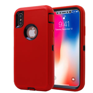 Heavy Duty Tough 3 in 1 Hard PC Soft Silicone Impact Protection Dust Proof Full Body Protection Case Cover for Apple iPhone X/XS/XS Max/XR