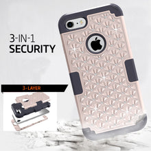 Load image into Gallery viewer, Diamond Bling Hybrid Armor Rugged Rubber Diamond Matte Hard Case Cover