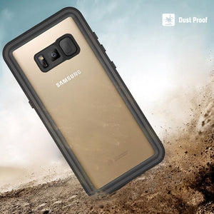 Samsung Galaxy Note 8 Waterproof Case 6.6ft Diving Shockproof 360 Full Cover Black