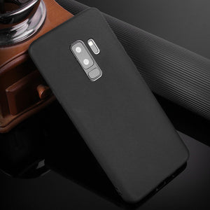 Galaxy S9+ Plus Soft Liquid Silicone Gel Rubber Anti-Scratch Shockproof Anti- Fingerprint Protection Case