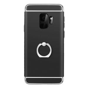 Galaxy S9 Ring Stand Case, AICase Ultra Thin and Slim Hard Case 3 in 1 Combo Coated [360 Degree Rotating Ring Kickstand] [Electroplate Frame Cover] for Samsung Galaxy S9