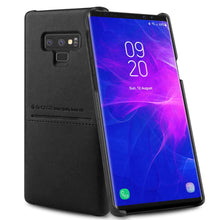 Load image into Gallery viewer, G-Case Galaxy Note 9 Soft Fabric + Premium PU Leather Case with ID & Card Holder Slot Simple Professional Executive Snap On Case