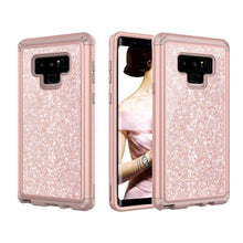 Load image into Gallery viewer, Galaxy Note 9 Shockproof Case, Luxury Glitter Sparkle Bling Heavy Duty Hybrid Sturdy Armor Defender High Impact 3 Layer Protective Cover