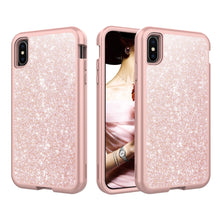 Load image into Gallery viewer, Marble Bling Glitter Shockproof Full Armor Hard Case Cover for iPhone X/XS/XS Max/XR