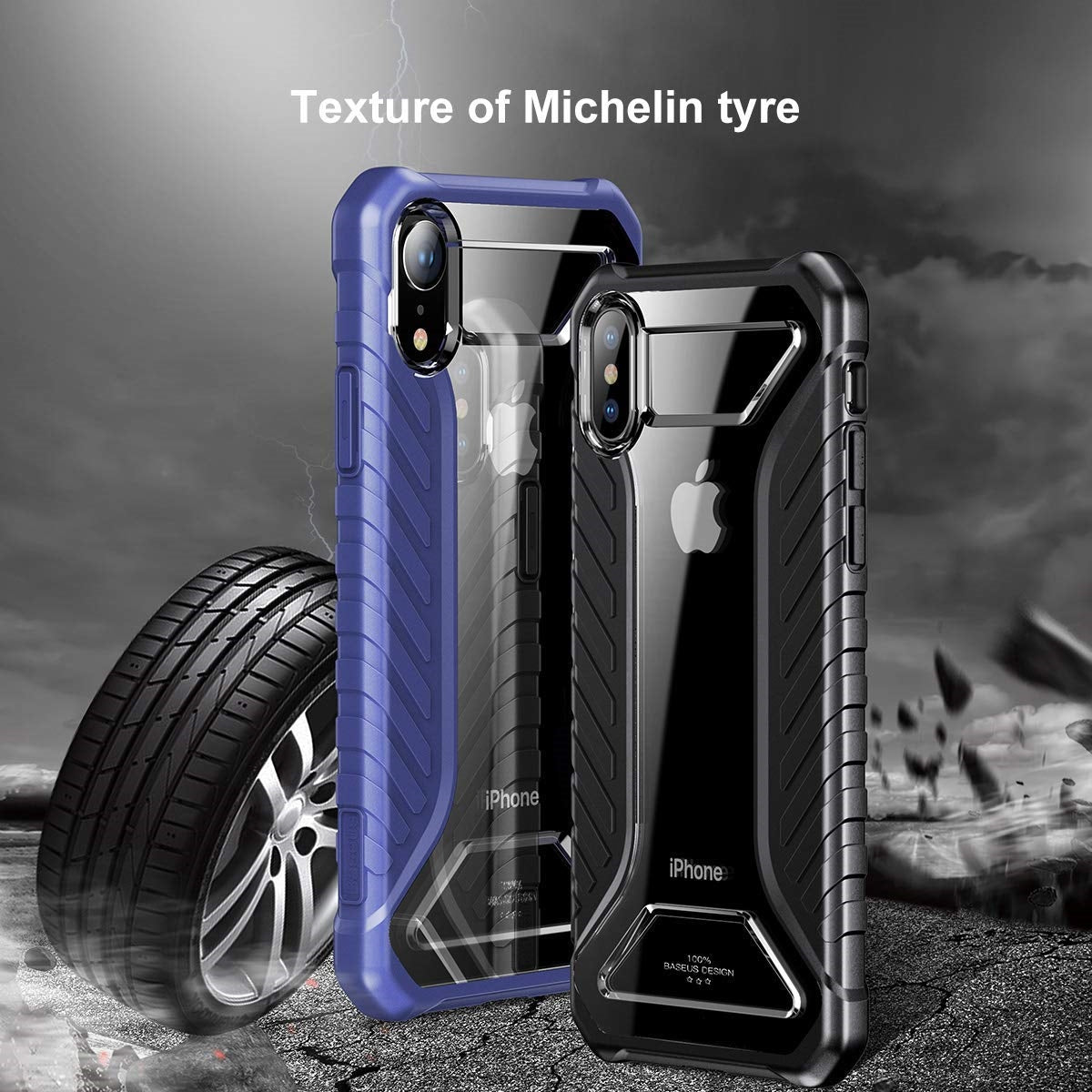 AICase iPhone X or XS Luxury Transparent Clear Back Air Cushion Technology and Secure Grip Drop Protection Protective Case