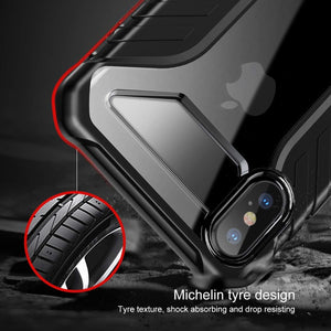 AICase iPhone XS Luxury Transparent Clear Back Air Cushion Technology and Secure Grip Drop Protection Protective Case for Apple 5.8'' iPhone XS