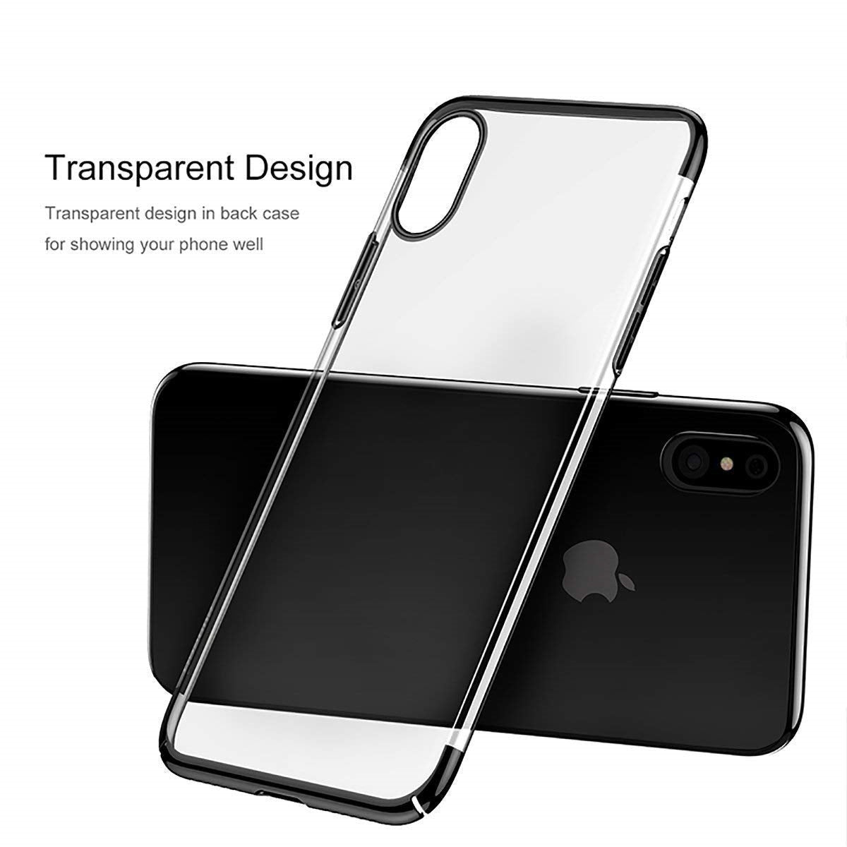 iPhone Xs Clear Case, AICase Shinning Electroplating Design PC Bumper Clear Back Protective Cover Bumper for Apple 5.8'' iPhone Xs