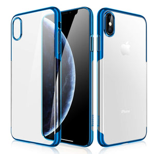 iPhone XR (2018) Clear Case, AICase Shinning Electroplating Design PC Bumper Clear Back Protective Coer Bumper for vApple 6.1'' iPhone XR 2018