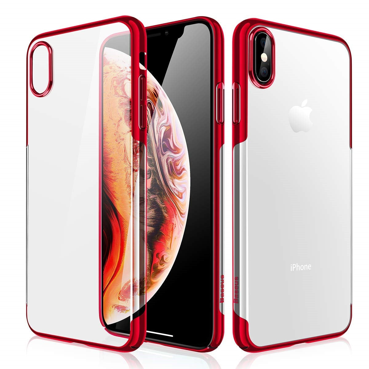 iPhone XS MAX 6.5'' 2018 Clear Case, AICase Shinning Electroplating Design PC Bumper Clear Back Protective Cover Bumper for Apple iPhone Xs MAX 6.5'' 2018
