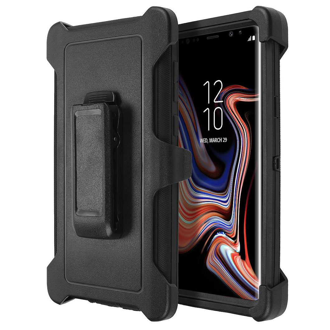 Galaxy Note 9 Shockproof Heavy Duty 3 in 1 Soft Silicone & Hard Back Cover Bumper Protective Skid-Proof Anti-Scratch Hybrid Case