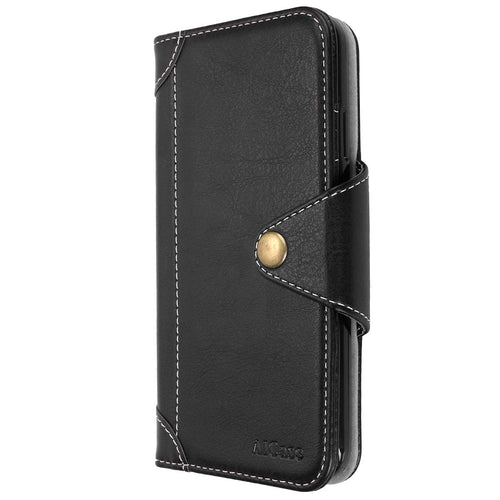 iPhone Wallet PU Leather & Soft TPU Inner Case, Flip Folio Book Card Slots Cover