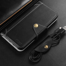 Load image into Gallery viewer, iPhone Wallet PU Leather & Soft TPU Inner Case, Flip Folio Book Card Slots Cover