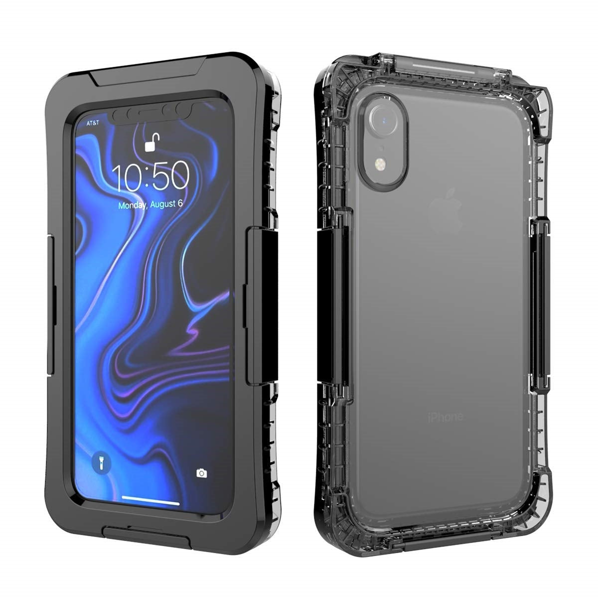 iPhone XR Waterproof Case, AICase IP68 Outdoor Underwater Protective Cover Full Body Shockproof Dustproof Dirtyproof iPhone