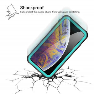 AICase iPhone Xs Waterproof Case, Shockproof, Snowproof, DustProof IP68 Certified Fully Sealed Underwater Protective Cover for Apple iPhone Xs 5.8""
