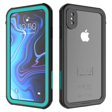 "Load image into Gallery viewer, AICase iPhone Xs Max Waterproof Case, Shockproof, Snowproof, DustProof IP68 Certified Fully Sealed Underwater Protective Cover Apple iPhone Xs Max 6.5"" (iPhone Xs Max, Black,Blue)"