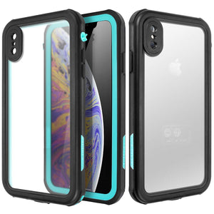 "AICase iPhone Xs Max Waterproof Case, Shockproof, Snowproof, DustProof IP68 Certified Fully Sealed Underwater Protective Cover Apple iPhone Xs Max 6.5"" (iPhone Xs Max, Black,Blue)"