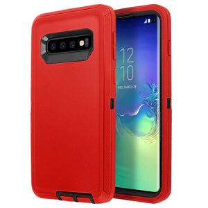 Galaxy S9 or S10 Heavy Duty 3 in 1 Scratch Resistant, Dropproof, Soft TPU+ Hard PC Hybrid Truly Shockproof Water-Resistance Protective Case