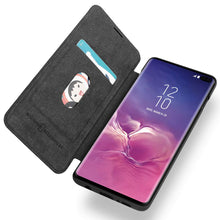 Load image into Gallery viewer, Samsung Galaxy S10/S10+/S10e G-CASE Ultra Slim Folio Flip Leather Wallet Case 360 Degree Full Body Protection Case with Card Slot for ID/Card/Cash