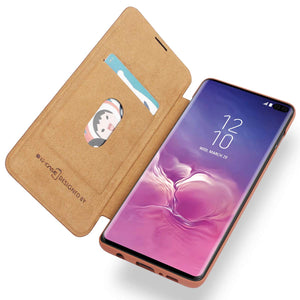 Samsung Galaxy S10/S10+/S10e G-CASE Ultra Slim Folio Flip Leather Wallet Case 360 Degree Full Body Protection Case with Card Slot for ID/Card/Cash