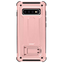 Load image into Gallery viewer, Samsung Galaxy S10/S10+/S10e Dual Layer Hybrid Defender Hard PC + Soft TPU Bumper Shockproof with Built-in Kickstand