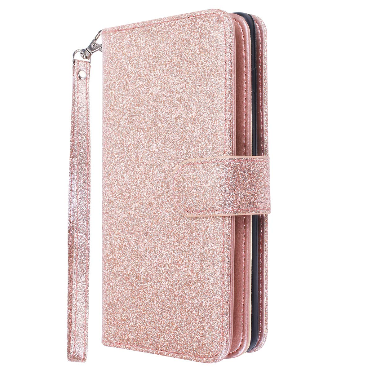 Galaxy S10/S10+ Wallet Case Cute PU Leather Flip Wallet Cover with 9 Card Slots Magnetic Snap Closure
