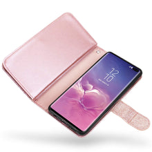 Load image into Gallery viewer, Galaxy S10/S10+ Wallet Case Cute PU Leather Flip Wallet Cover with 9 Card Slots Magnetic Snap Closure