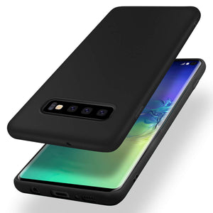 Galaxy S10/S10+/S10e Slim Thin Excellent Grip Scratch Resistant Slim Luxury TPU Rubber Soft Silky Smooth Gel Silicone Protective Cover
