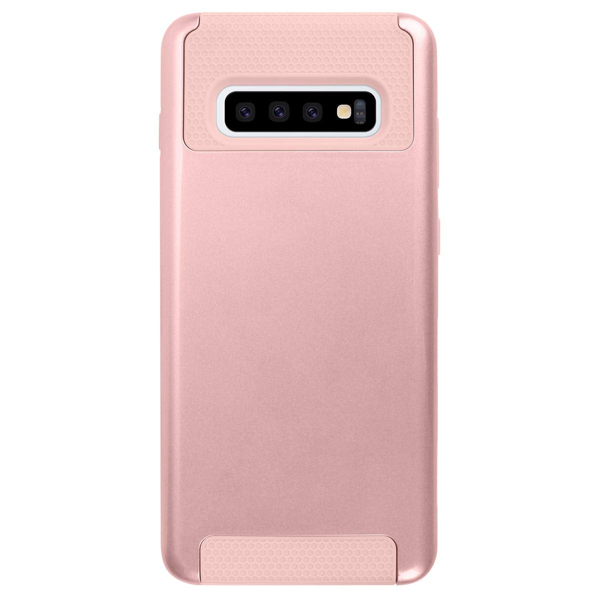Galaxy S10/S10+ 2 in 1 Anti-Scratch Dual Layer Heavy Duty Tough Armor Hard Plastic Shell Soft Rugged TPU Bumper Shockproof Protective Case