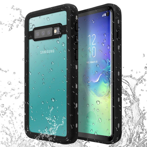 Galaxy S10/S10+/Note 9 Waterproof Case IP68 Water Resistant Snowproof Dirtypoof Full Body Protection Transparent Clear Back Case Built-in Screen Protector