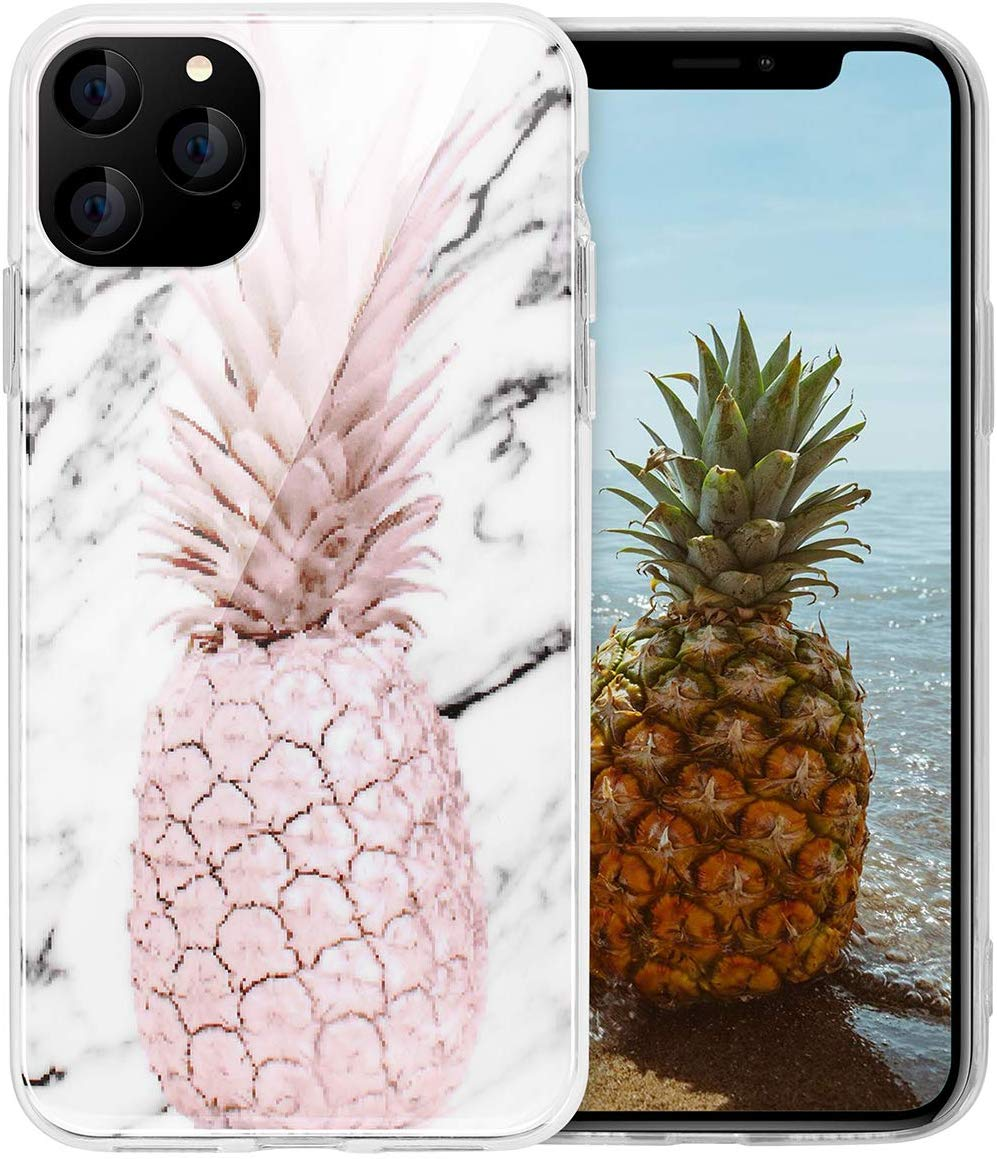 AICase Pineapple and Marble Pattern Cute Case for Girls Women