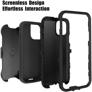 Belt-Clip Holster Full Body Rugged Heavy Duty Case for Apple iPhone 11/Pro/Pro Max