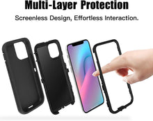 Load image into Gallery viewer, Drop Protection Full Body Rugged Heavy Duty Case for iPhone 11/Pro/Pro Max