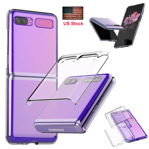 Samsung Galaxy Z Flip Clear Shockproof Protective Plating Case