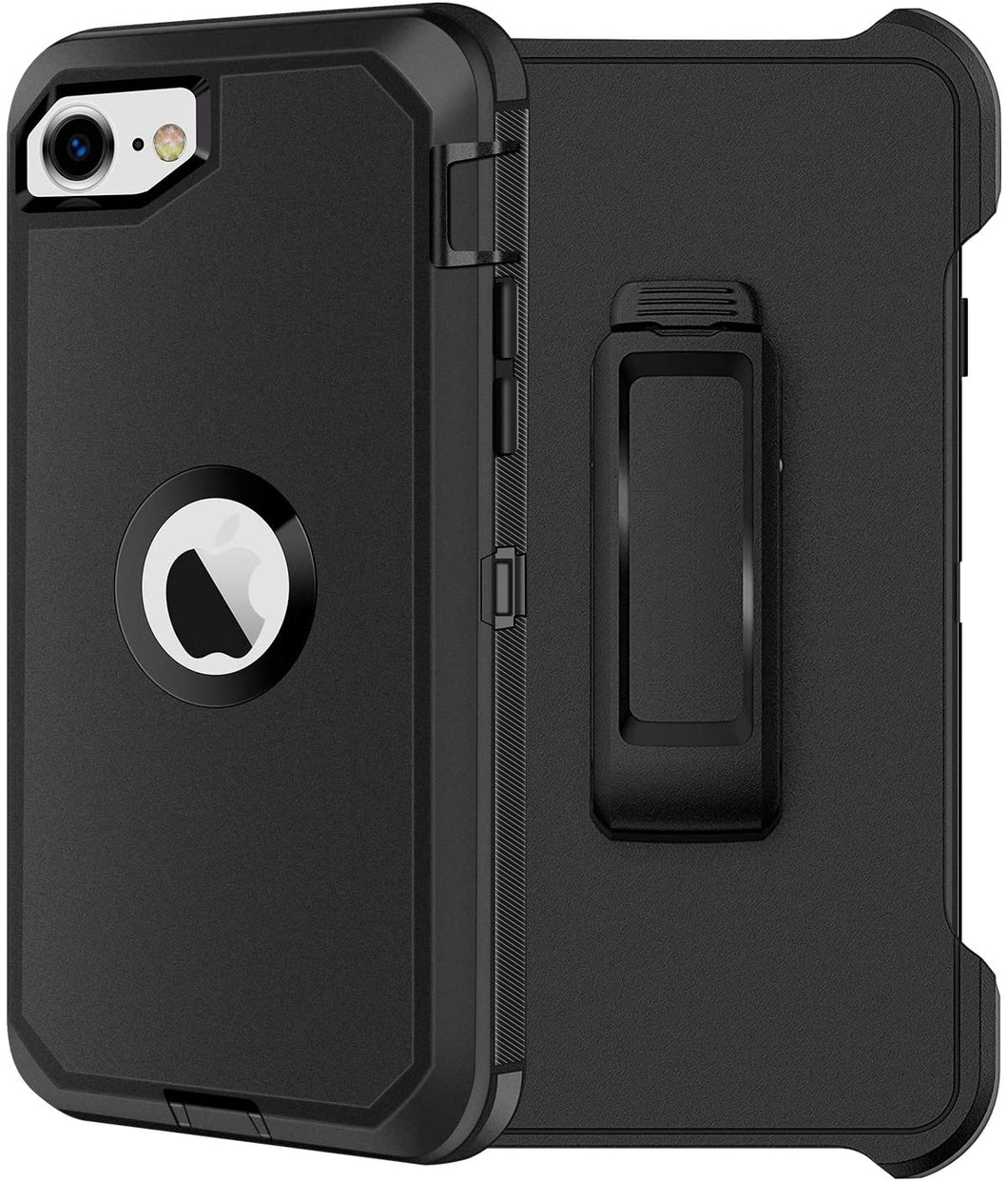 AICase Belt-Clip Holster Drop Protection Full Body Rugged Heavy Duty Case for iPhone SE 2020