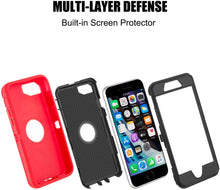 Load image into Gallery viewer, AICase Drop Protection Full Body Rugged Heavy Duty Shockproof Dropproof Dustproof 3-Layer Protective Durable Cover for iPhone SE 2020