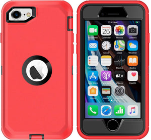 AICase Drop Protection Full Body Rugged Heavy Duty Shockproof Dropproof Dustproof 3-Layer Protective Durable Cover for iPhone SE 2020