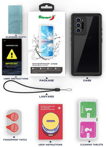 IP68 Certified Waterproof Shockproof Drop Protection Underwater Clear Protective Case for Samsung Galaxy Note20 Ultra