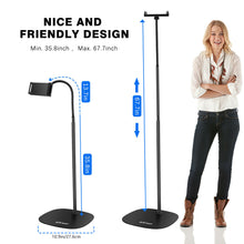 Load image into Gallery viewer, Detachable Universal Cell Phones Tablet iPad Selfie Gooseneck Floor Stand Holder