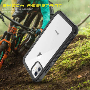 Full Body 360 Rugged Dual Layer Heavy Duty Clear Protective Phone Case for iPhone 12