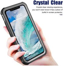 Load image into Gallery viewer, Full Body 360 Rugged Dual Layer Heavy Duty Clear Protective Phone Case for iPhone 12