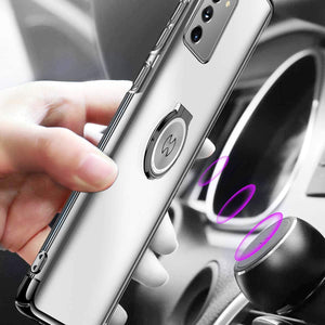 AICase Clear Slim Thin Case with Kickstand Ring Holder for Samsung Galaxy Note 20