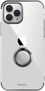 AICase Clear Slim Thin Case with Kickstand Ring Holder for iPhone 12 Max