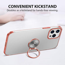 Load image into Gallery viewer, AICase Clear Slim Thin Case with Kickstand Ring Holder for iPhone 12 Max