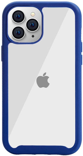 AICase Clear Anti-Slip Hybrid Designed Colorful TPU Bumper Hard PC Transparent Protective Case for iPhone 12 Pro Max